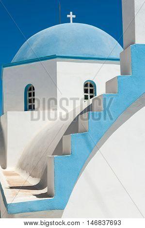 Beautiful dome in the sun of Naxos - Greece