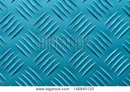 Aluminum plate with diamond shaped structure in blue color
