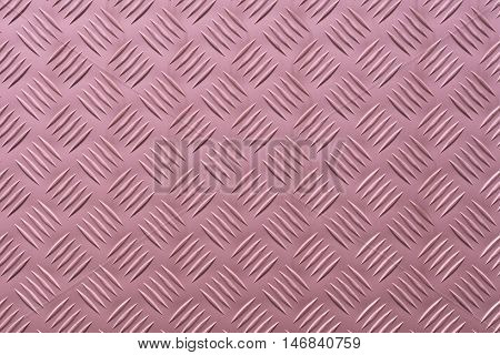 Aluminum plate with diamond shaped structure in pink color