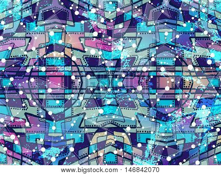 Abstract Background Geometric Science Wallpaper Blue
