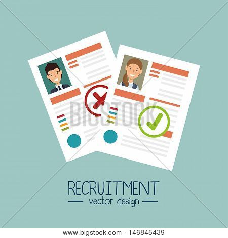 curriculum recruitment employee isolated vector illustration eps 10