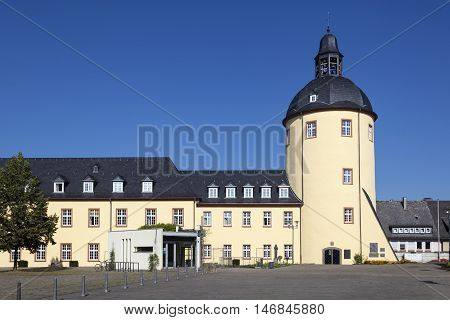 Historic tower in the old city of Siegen North Rhine-Westphalia Germany