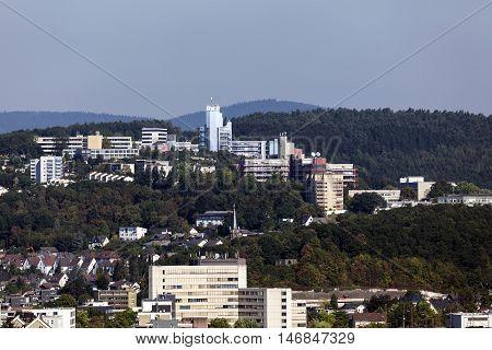 University of Siegen buildings. North Rhine Westphalia Germany