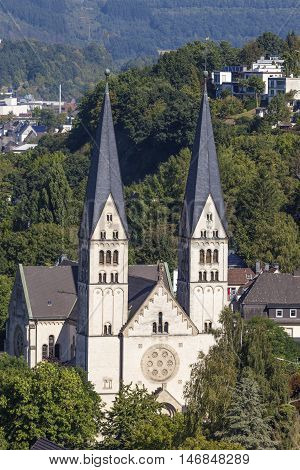St. Michael Church in the city of Siegen. North Rhine Westphalia Germany
