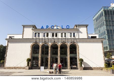SIEGEN GERMANY - SEP 8 2016: The Apollo theater in the city of Siegen. North Rhine Westphalia Germany