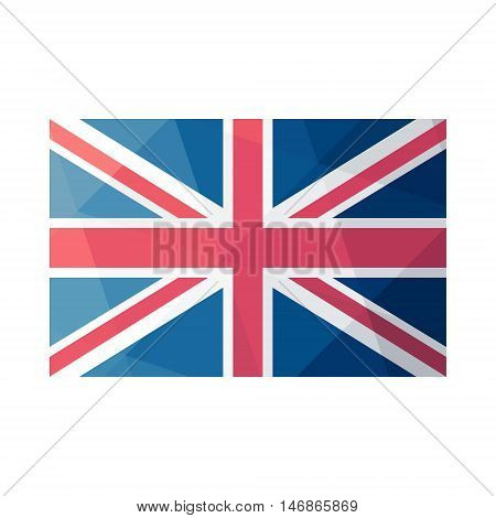United Kingdom abstract background consisting of triangles. Icon Great Britain flag in polygonal design.