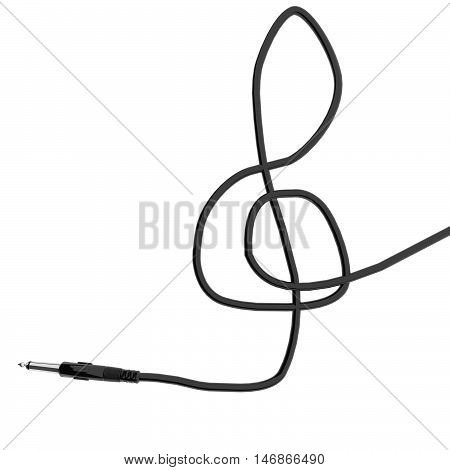 Wire Cable In Shape Of Violin Key