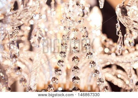 Elements of crystal strass white lamp interior
