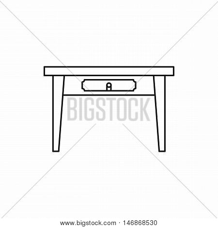 Table icon in outline style on a white background vector illustration