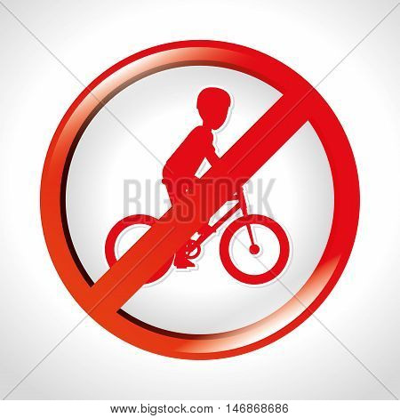 prohibition bicycle icon design isolated vector illustration eps 10