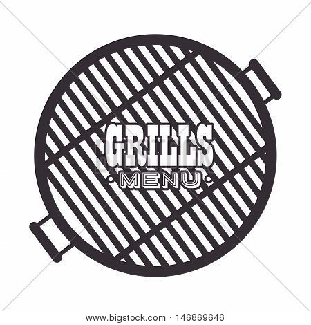 grills menu beef beer design isolated vector illustration eps 10