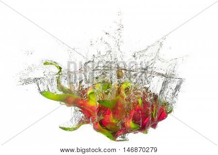 Dragon-fruit splashes into the water