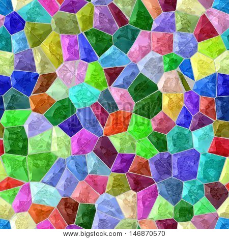 vibrant colorful marble irregular plastic stony mosaic seamless pattern texture background with gray grout