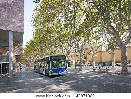 Bus On La Rambla