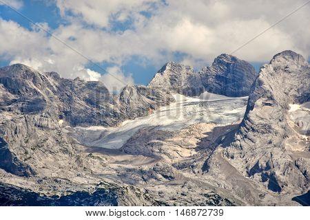 Hoher Dachstein with Gosau glacier and west-ridge