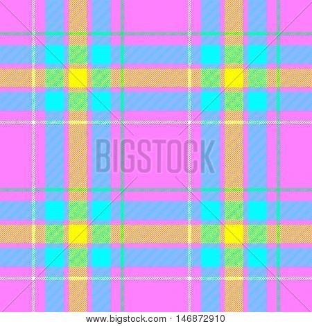 pink blue yellow and green check diamond tartan plaid fabric seamless pattern texture background