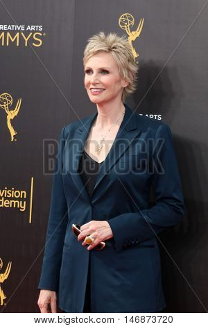 LOS ANGELES - SEP 11:  Jane Lynch at the 2016 Primetime Creative Emmy Awards - Day 2 - Arrivals at the Microsoft Theater on September 11, 2016 in Los Angeles, CA