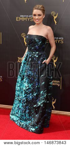 LOS ANGELES - SEP 11:  Clare Grant at the 2016 Primetime Creative Emmy Awards - Day 2 - Arrivals at the Microsoft Theater on September 11, 2016 in Los Angeles, CA
