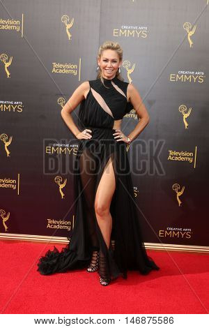 LOS ANGELES - SEP 11:  Kym Johnson at the 2016 Primetime Creative Emmy Awards - Day 2 - Arrivals at the Microsoft Theater on September 11, 2016 in Los Angeles, CA