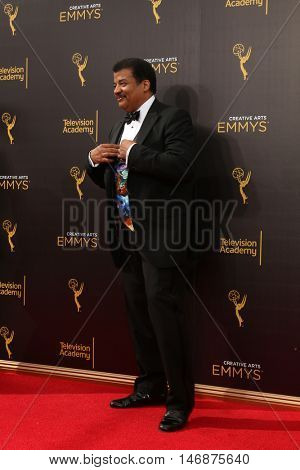 LOS ANGELES - SEP 11:  Neil deGrasse Tyson at the 2016 Primetime Creative Emmy Awards - Day 2 - Arrivals at the Microsoft Theater on September 11, 2016 in Los Angeles, CA