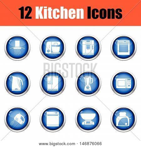 Kitchen Icon Set.