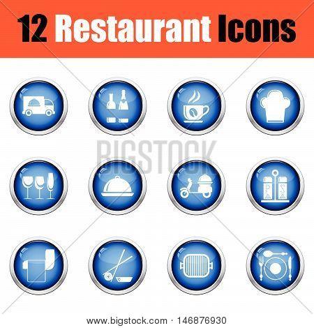 Restaurant Icon Set.