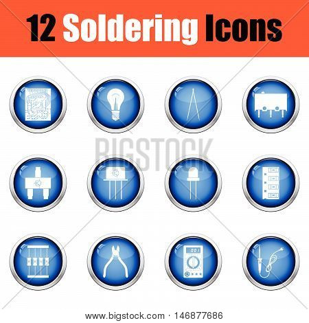 Set Of Soldering  Icons.