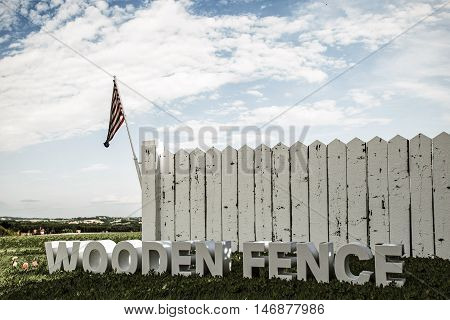 3d illustration of a white wooden fence