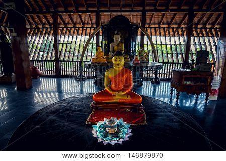 Colombo, Sri Lanka - February 16, 2016: The Seema Malaka Temple in Colombo indoor