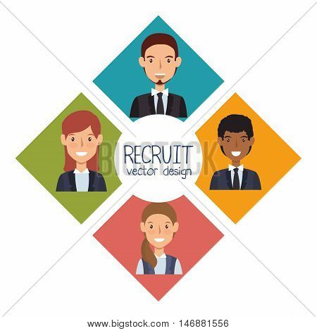 human resources recruit design isolated vector illustration eps 10