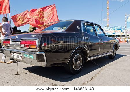 Nissan Cedric Gl Dark Colours At The Exhibition Of Vintage Cars Under The Open Sky