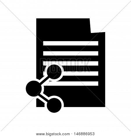 flat design paper document and connectivity icon vector illustration