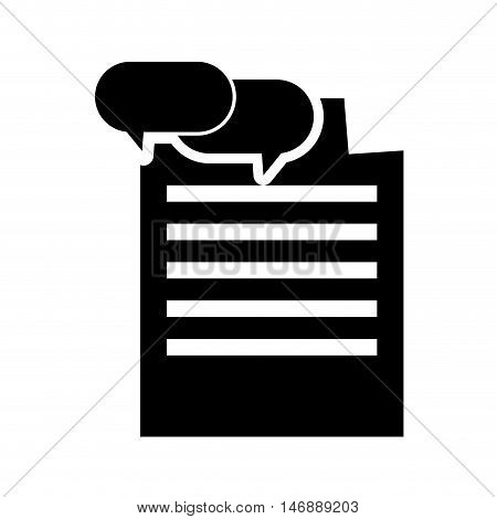 flat design paper document and conversation bubble  icon vector illustration