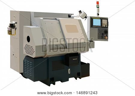 modern small lathe with program control ensures high machining accuracy and performance