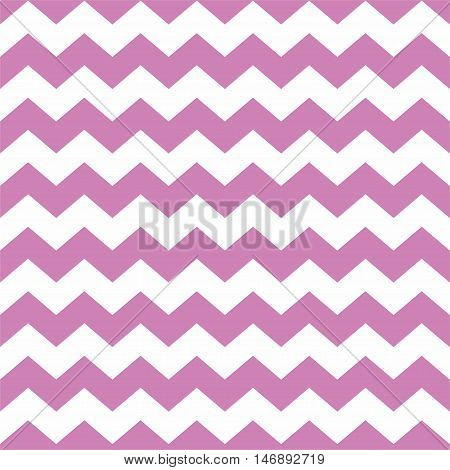 Tile vector pattern with violet pink zig zag on white background