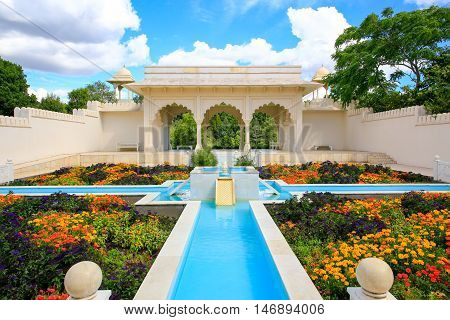 Hamilton, Nz - February 25, 2015: Indian Char Bagh Garden In Hamilton Gardens