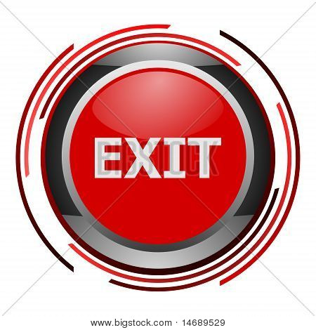 exit glossy icon