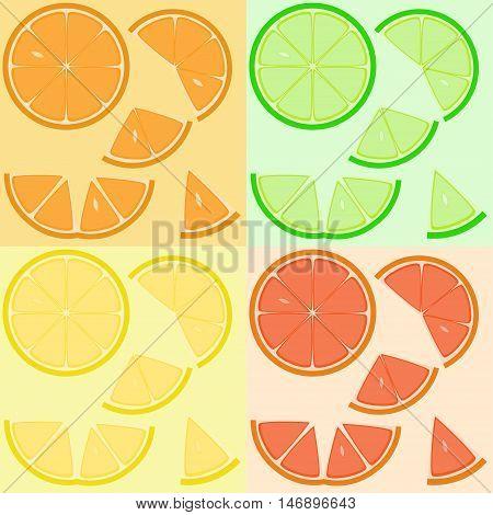 Set Of Citrus Slices.