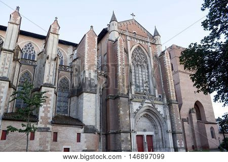 Saint Etienne cathedral, romanesque in toulouse France