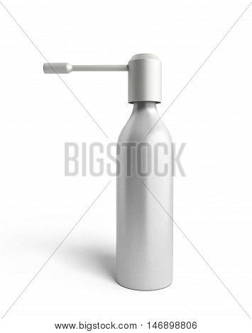 Throat Spray Medication 3D Render On White