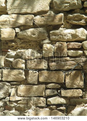 ancient stone wall
