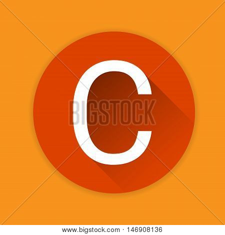 Vitamin C Nutrition Chemistry Element Colorful Icon Flat Vector Illustration