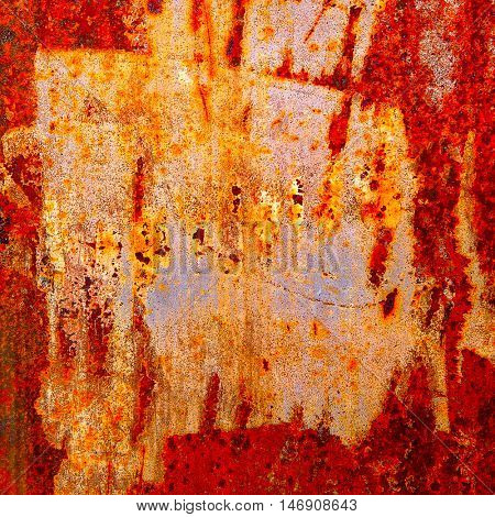 Texture of rusted steel, may be used as background