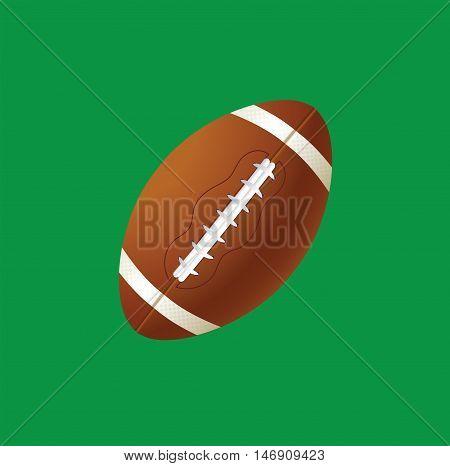 vector illustration of sport ball american football