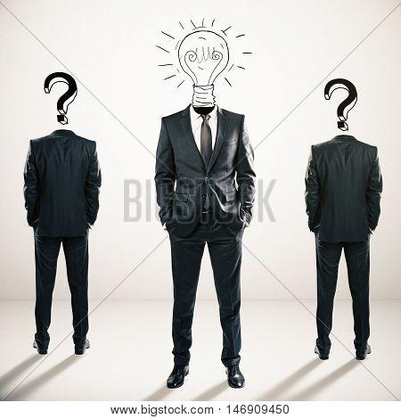 Idea And Leadership Concept