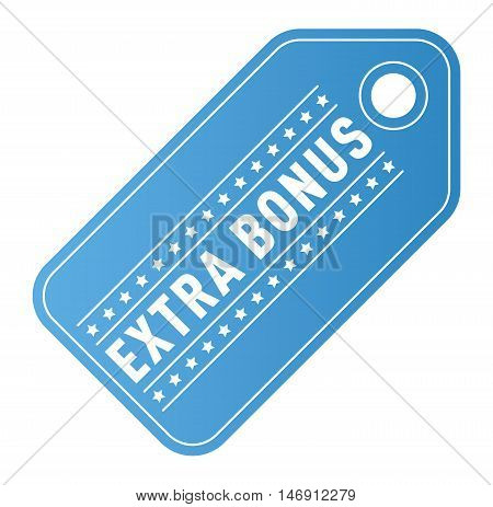 Super and extra bonus banner text in color drawn label, business shopping concept vector.