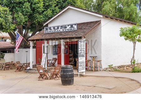 Rust General Store At  Old Town San Diego State Historic Park