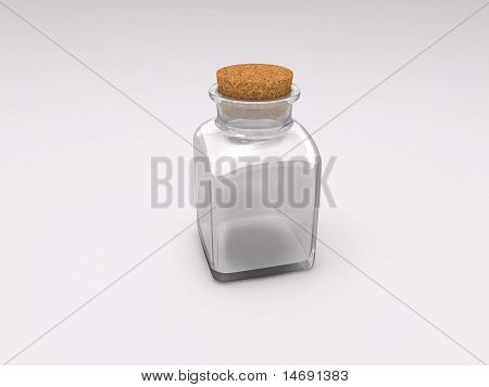 Empty Glass Medicine Bottle