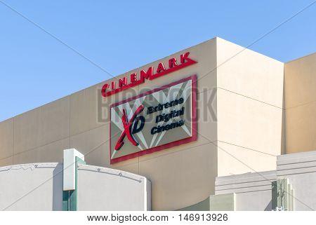 Cinemark Movie Theater Exterior And Logo