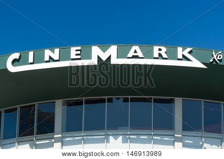 Cinemark Movie Theater Exterior And Logo